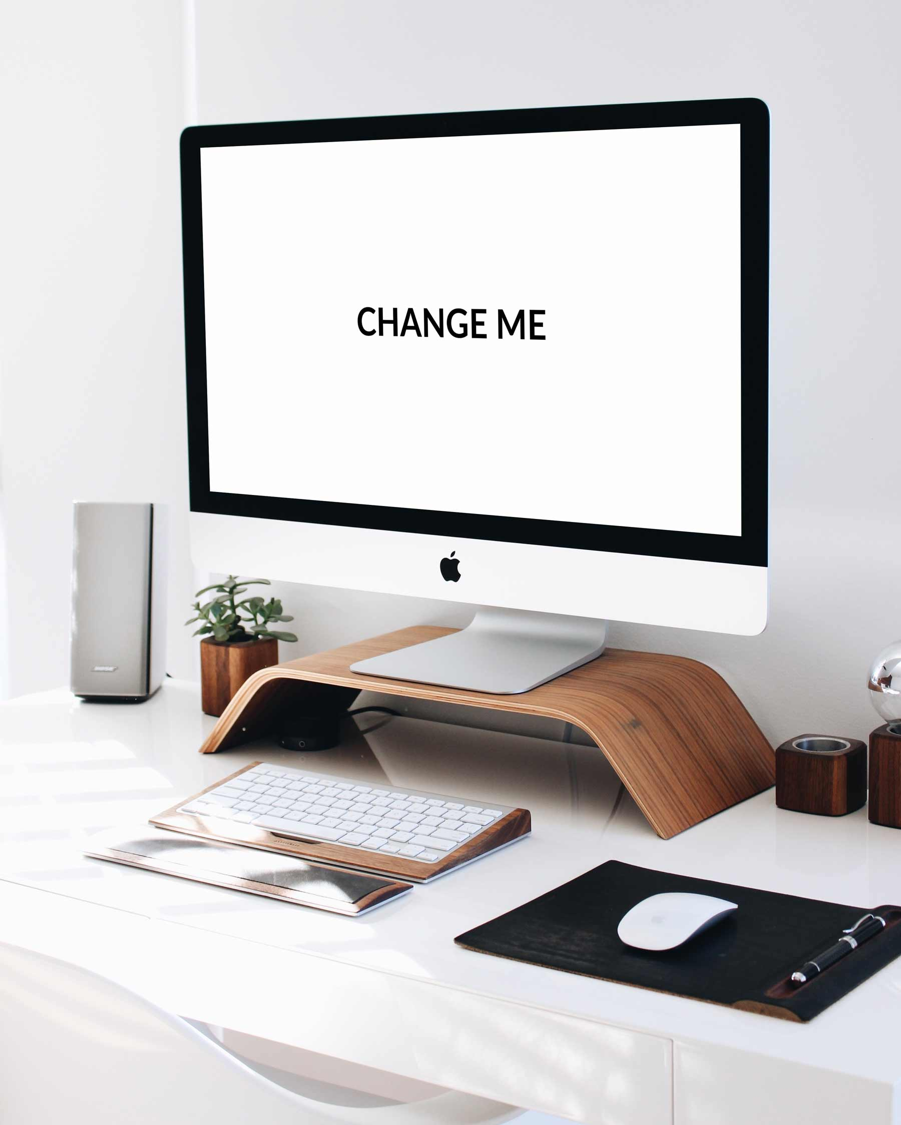 Clean Minimalist Desk iMac Mockup Conor Lyons
