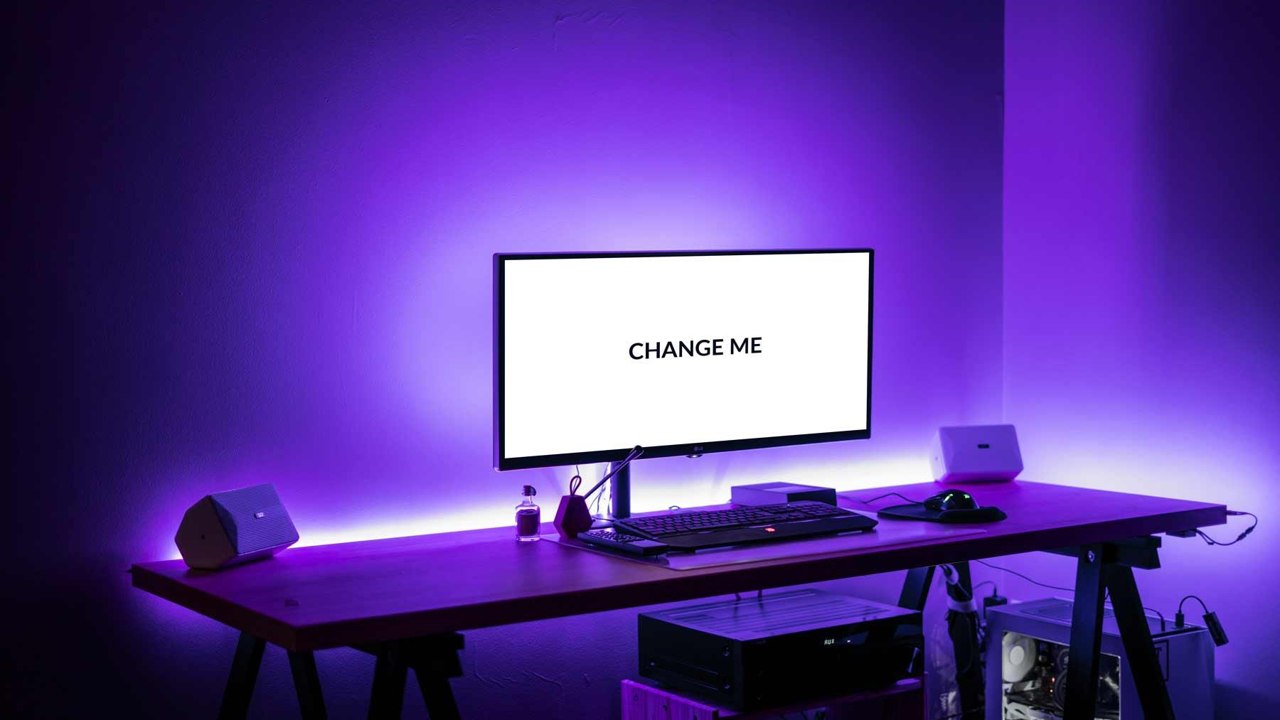 Dark Desktop FREE PSD Mockup