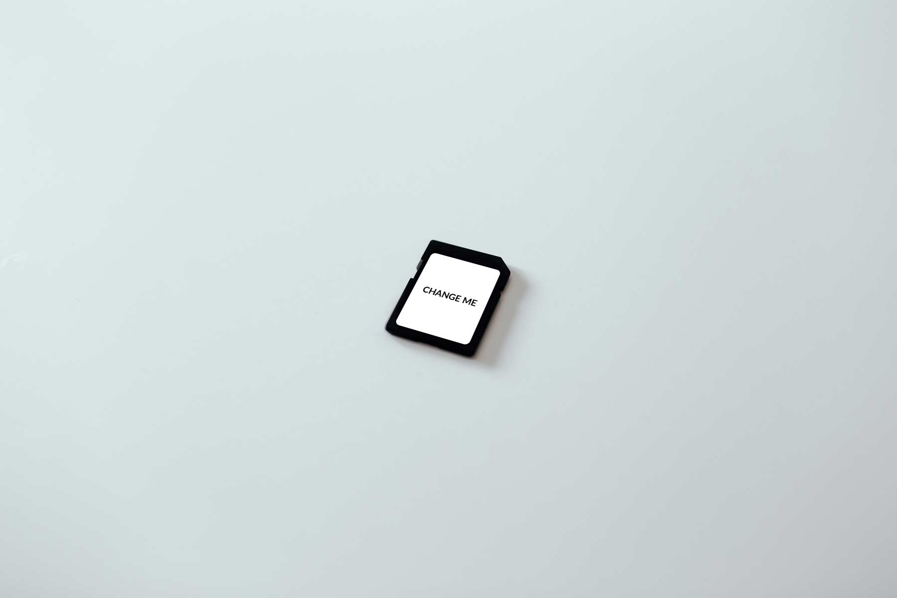 SD Card Mockup