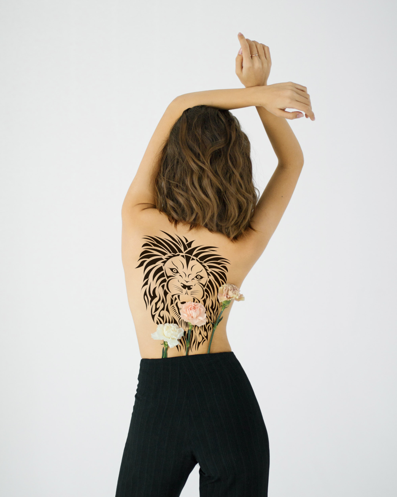 Women's back tattoo mockup